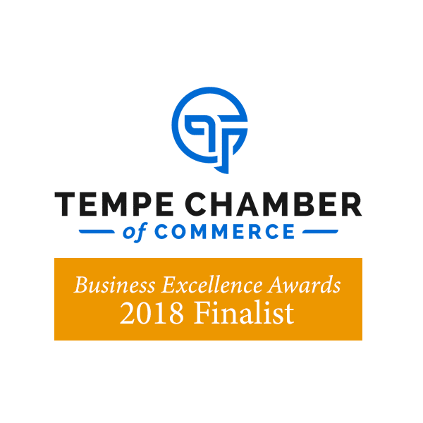 Tempe Chamber of Commerce Business Excellence Awards 2018 Finalist Logo